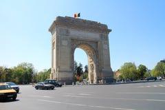 Arcul de Triumf The Arch Of Triumph in Bucharest. Romania Royalty Free Stock Image