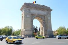 Arcul de Triumf The Arch Of Triumph in Bucharest. Romania Stock Photo