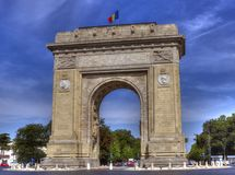 Arcul de Triumf, Bucharest Royalty Free Stock Images