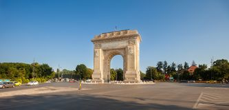 Arcul de Triumf Triumph Arch, Bucharest. The Arcul de Triumf Triumph Arch, Bucharest, Romania Royalty Free Stock Image