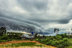 Arcus clouds Stock Photography