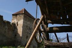 Arcus forteczny kościół w Transylvania fotografia royalty free