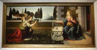 Arcydzieła w Uffizi galerii, Florencja, Włochy obraz royalty free