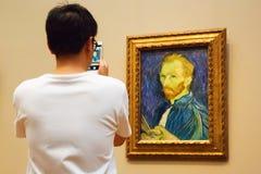 Arcydzieło Van Gogh w national gallery, Waszyngton obraz royalty free