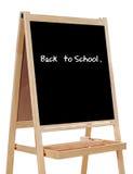 Ardósia escrita com as palavras: de volta à escola fotos de stock royalty free