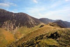 The ridgeline upto Ard Crags Stock Photos