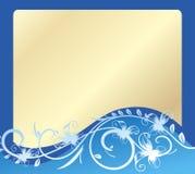 Ard de ¡ de Ð - bleu et or. illustration de vecteur