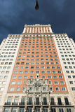 Ard Edificio España deco Wolkenkratzer in Plaza de España, Madrid Stockfotografie