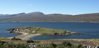 Ard Neakie in Loch Eriboll, Scotland. Warships sheltered here during World War 2 including HMS Hood Stock Photo