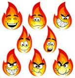 Arda desenhos animados com muitas caras isoladas no fundo branco Fotos de Stock