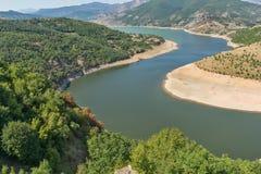 Arda Rzeczny meander i Rhodopes góra, Bułgaria obrazy royalty free