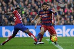 Arda Turan av FCet Barcelona Arkivbilder