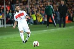 Arda Turan. PRAGUE 10/10/2015 _ Arda Turan. Match of the EURO 2016 qualification group A Czech Republic - Turkey royalty free stock image