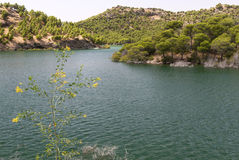 Ardales δεξαμενή και λίμνες Στοκ φωτογραφία με δικαίωμα ελεύθερης χρήσης