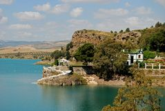 ardales guadalhorce λίμνη κοντά στην Ισπανία Στοκ Φωτογραφίες