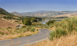 Ardales Reservoir and Lakes Stock Photo
