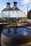Ardbeg whisky distillery`s established in 1815, Islay, Scotland Royalty Free Stock Images