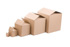 Ardboard boxes Stock Image