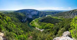 Ardeche峡谷看法  库存图片