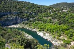 Ardeche峡谷看法  免版税库存照片