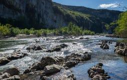 Ardeche峡谷看法  库存照片