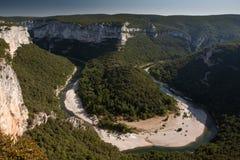 Ardeche,法国峡谷  免版税库存图片