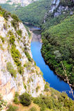 Ardeche canyon, south of France Royalty Free Stock Image