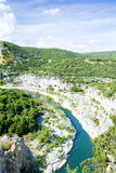 Ardeche Gorge Royalty Free Stock Photo