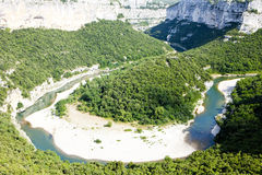 Ardeche Gorge Stock Photos