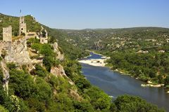 Ardeche gorge l'horizontal Images stock