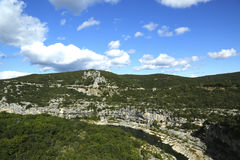 Ardeche Gorge in Rhone-Alpes region of France Royalty Free Stock Images