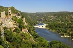 Ardeche gorges landscape Stock Images