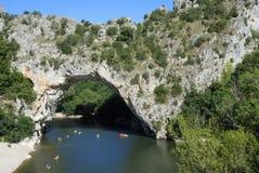 Ardeche, Natural Bridge Royalty Free Stock Images