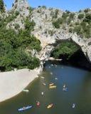 ardeche naturalny bridżowy zdjęcia royalty free