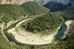 Ardeche valley Stock Images