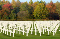 Ardennes American Cemetery Royalty Free Stock Photography