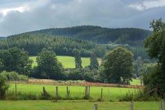Ardennes. Dark clouds above an Ardennes Landscape near Stavelot, Belgium royalty free stock photo