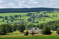 Ardennes. Landscape near Malmedy in the province of Liege, Belgium Stock Photos