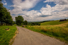 Ardennes Landscape. A typical landscape in the Belgian Ardennes, near Rochehaut Royalty Free Stock Image