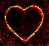 Ardent Heart Shape Graphic Background Royalty Free Stock Photo