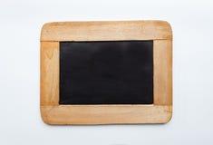 Ardesia in bianco del blocco per grafici di legno dell'annata,   Fotografie Stock