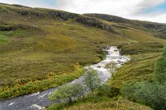 Ardessie Waterfall Cascades. Dundonnell river, scottish highlands Royalty Free Stock Photography