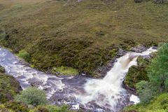 Ardessie Waterfall Cascades. Dundonnell river, scottish highlands Stock Photo