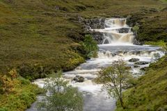 Ardessie Waterfall Cascades. Dundonnell river, scottish highlands Stock Photos