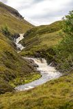 Ardessie Waterfall Cascades. Dundonnell river, scottish highlands Royalty Free Stock Photo