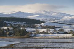 Snow beautiful - winter scenes in the Scottish Highlands Stock Photo