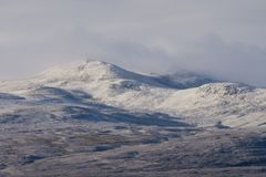 First snows in the Scottish Highlands royalty free stock photos