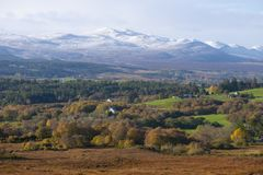 First snows in the Scottish Highlands royalty free stock photo