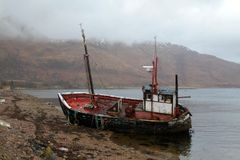 Ardgour Boat Ruin Stock Photography