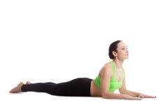 Ardha Bhujangasana yoga poserar Arkivfoton